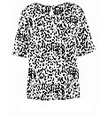 Animal Print Short Sleeve Top