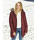 Fur Hooded Padded Jacket