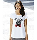 Pug Print T-Shirt