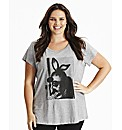 Bunny Girl Print T-Shirt