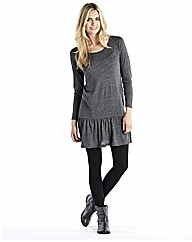 Dropped Waist Neppy Tunic Dress