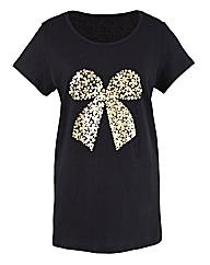 Bow Foil Print T-Shirt