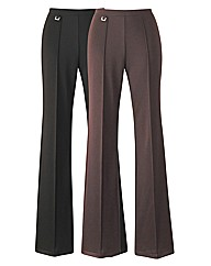 Pack of 2 Trousers Length 27in