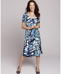 Fabrici Swirl Print Dress