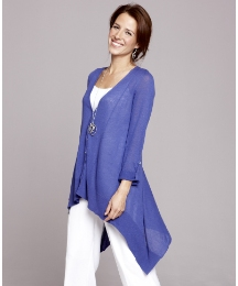 Fabrici Cardigan With Boyfriend Hem