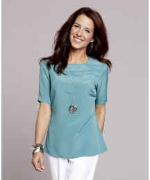 Fabrici Short Sleeved Silk Blouse