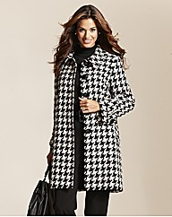 Fabrici Houndstooth Coat