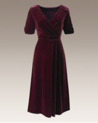 Fabrici Silk Velour Maxi Dress