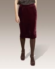 Fabrici Silk Velour Pencil Skirt