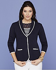 Contrast Tipped Jacket
