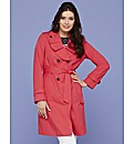 Trench Coat With Frill Detail