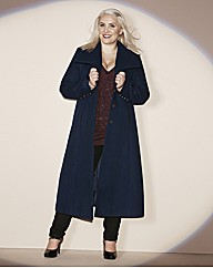Claire Richards Maxi PU Trim Coat