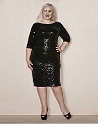 Claire Richards Sequin Bodycon Dress