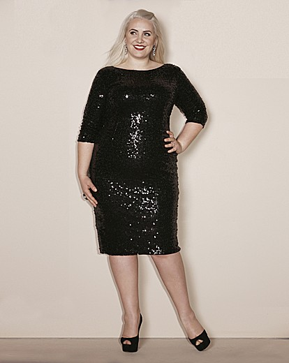 Claire Richards Sequin Bodycon Dress