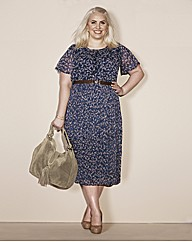 Claire Richards Bird Print Dress