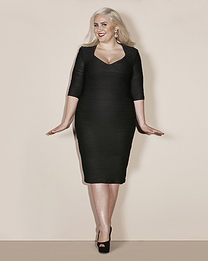 Claire Richards BodyCon Textured Dress
