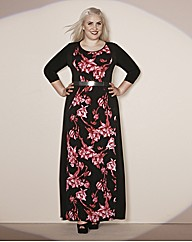 Claire Richards Print Illusion Dress