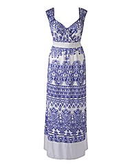 Claire Richards Print Maxi Dress