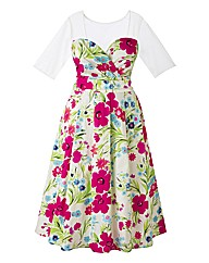 Claire Richards Print Prom Dress