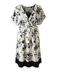 Claire Richards Lace Trim Print Dress