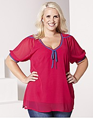 Claire Richards Frill Sleeve Blouse