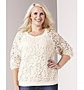 Claire Richards Lace Sweat Jersey Top