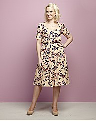 Claire Richards Print Tea Dress