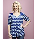 Claire Richards Print Blouse