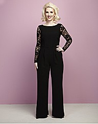 Claire Richards Lace Trim Jumpsuit