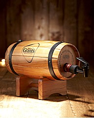 Grants Scotch Bottle & Whisky Barrel