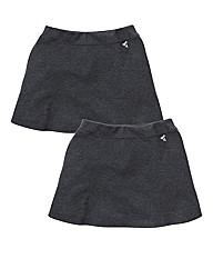 TKD Girls 2PK Ponti Skirt (7-12 years)