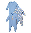 KD BABY Pack of 3 Sleepsuits