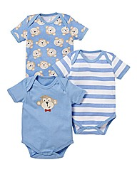 KD BABY Pack of 3 Bodysuits