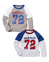 Ecko Boys Pack of Two Tops (2-7years)