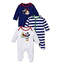 Mickey Mouse Pack of 3 Sleepsuits