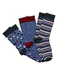 Jacamo Pack of 3 Multi Socks