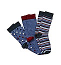 Jacamo Pack of 3 Multi Socks