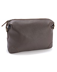 Black Label by Jacamo Leather Wash Bag