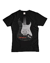 Rolling Stone Faded Guitar Tshirt