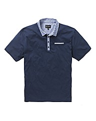 Black Label Gingham Polo Reg