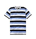 Label J Colour Block Stpe T-Shirt L