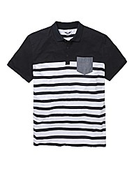 Label J Colour Block Stripe Polo L