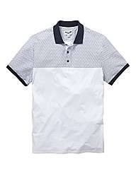 Label J Geo Panel Print Polo L