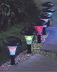 Solar Powered Colour Change Lights Pack6