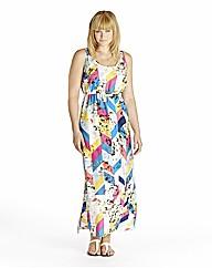 Edit Print Maxi Dress