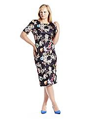 Edit Scuba Print Dress