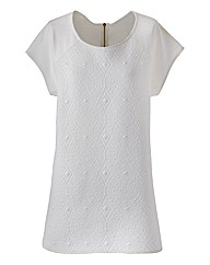 Edit Jacquard Front Jersey Top