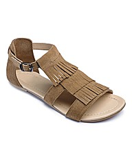Catwalk Collection Fringe Sandals EEE