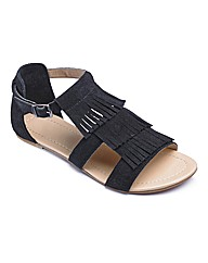 Catwalk Collection Fringe Sandals E Fit