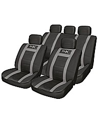 Sports Style Leather Look Seat Cover Set